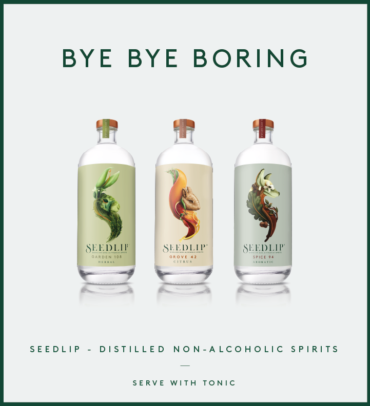 Non-alcoholic spirit Seedlip launches new 'Bye Bye Boring' campaign via Carat and Poem