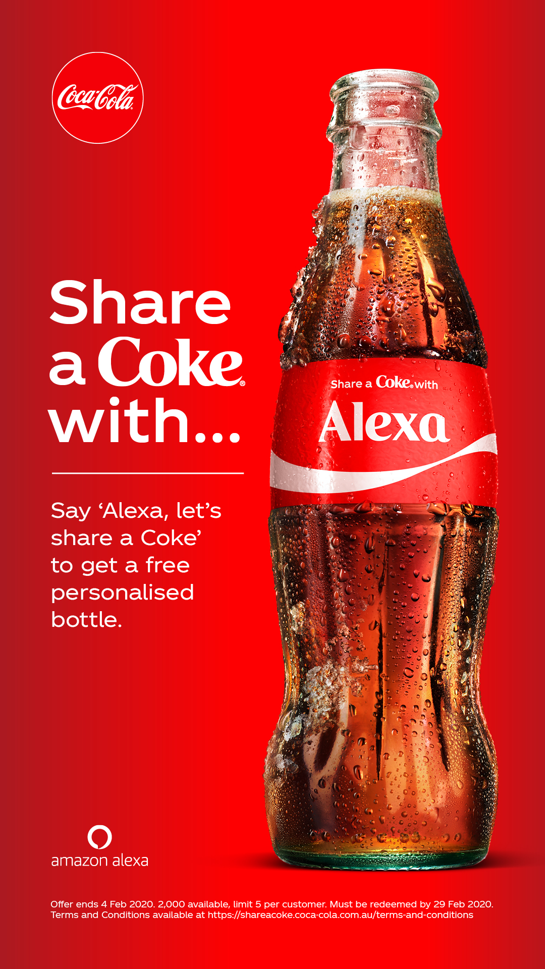 Coke + Amazon Alexa deliver personalised cokes to Aussies' doors in new promo via Ogilvy + VERSA