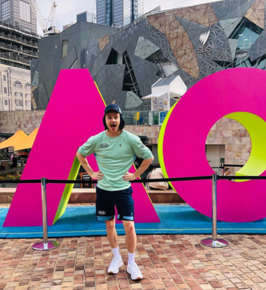 Hello Social join forces with Joel Creasey and Sam Groth to generate awareness of Uber + Kia Fan Fleet partnership at the Australian Open 2020