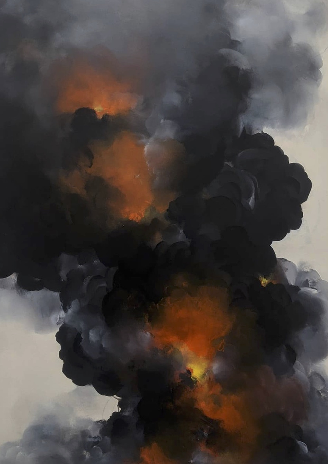 Renowned local and international artists use charcoal from bushfires in new 'RISE' exhibition to support affected communities