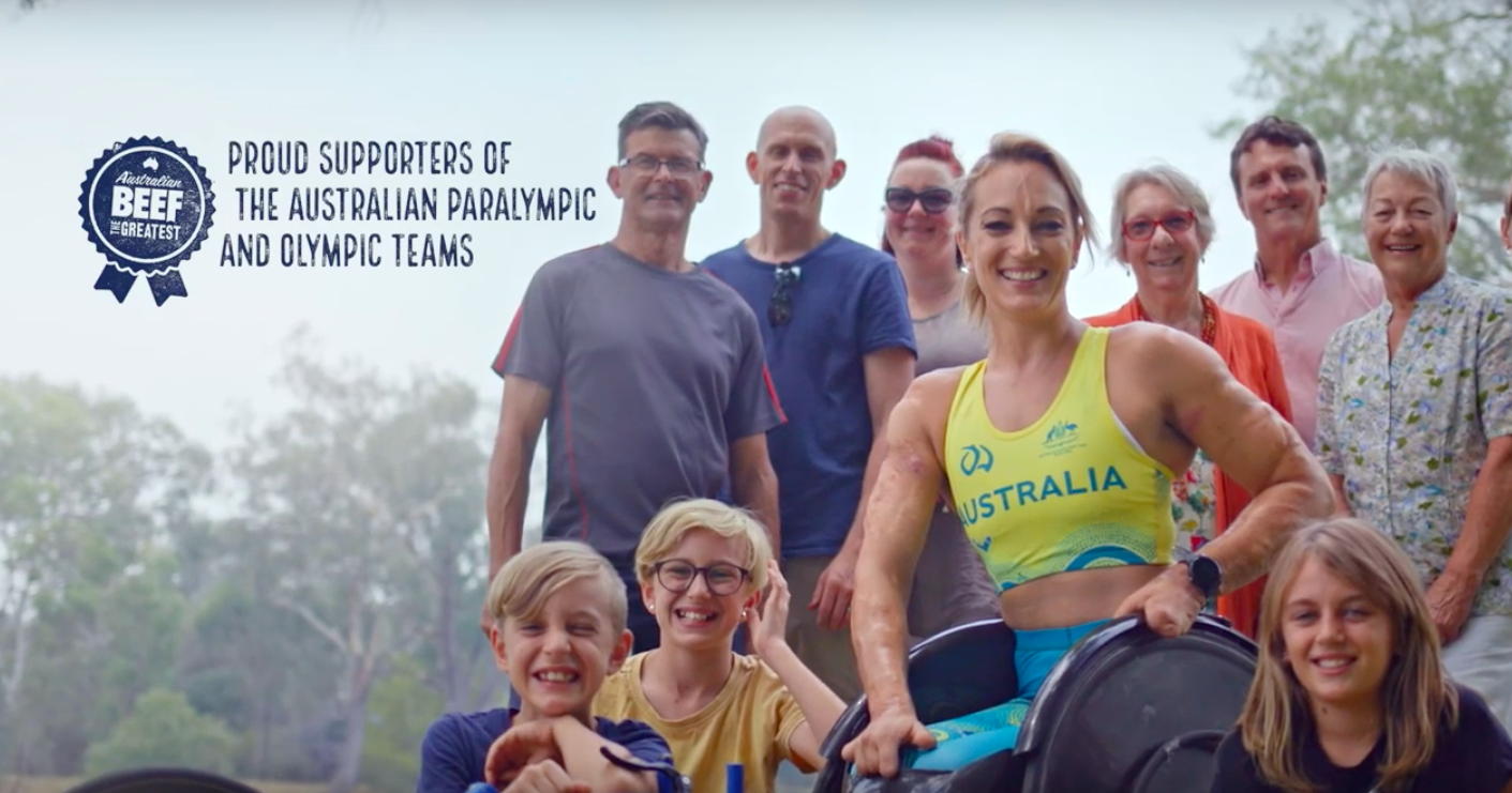 Australian Beef tells stories of greatness in new campaign ahead of the 2020 Tokyo Olympics and Paralympics via The Monkeys + one green bean