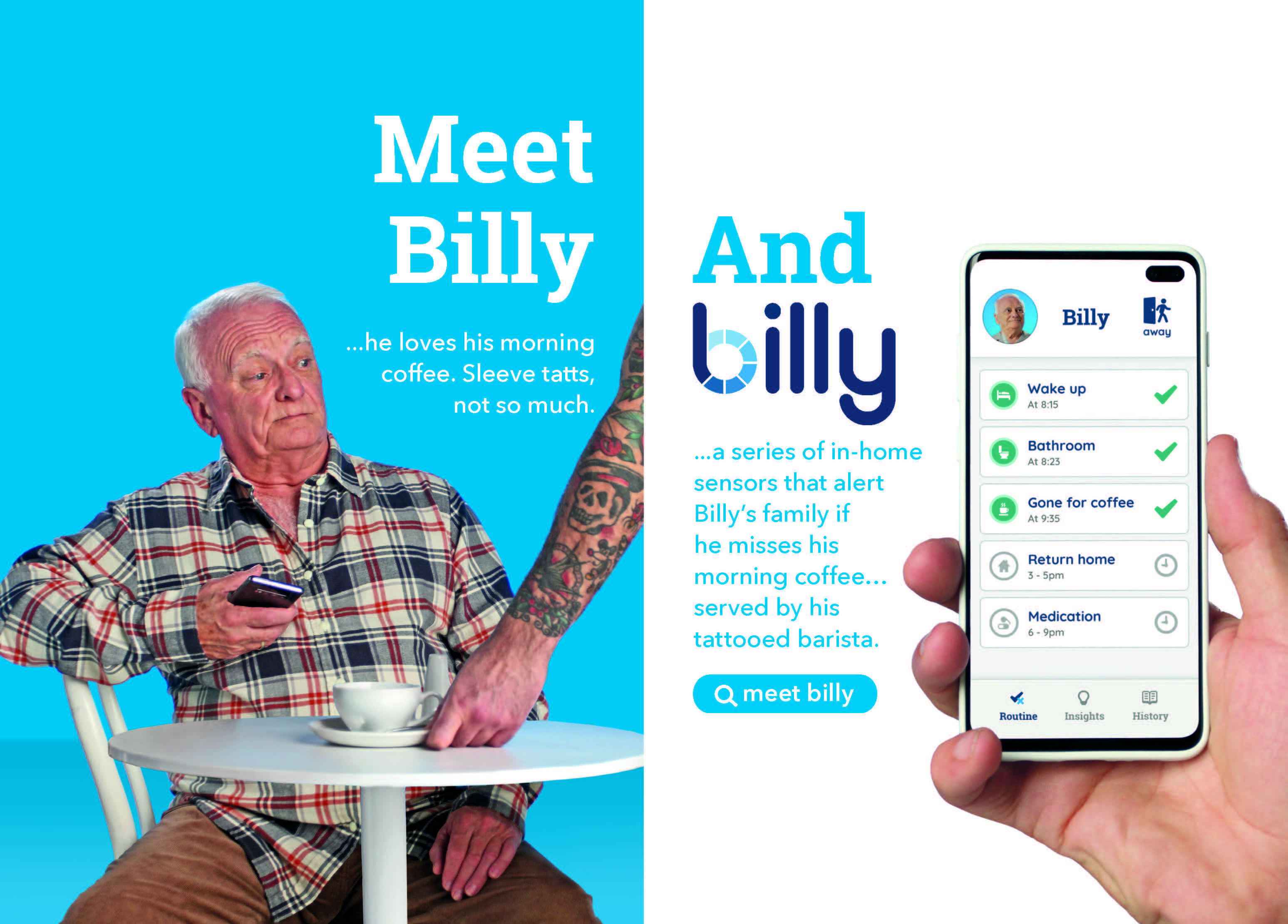 Innovative age-care solution Billy enters the market with new campaign via Thinkerbell