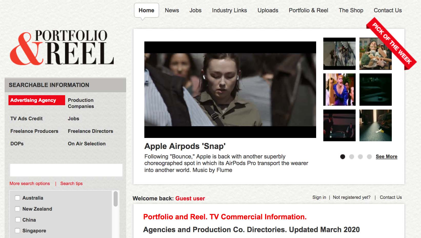 Who's where? Portfolio & Reel's list of Aust + NZ Ad Agencies and Production Companies