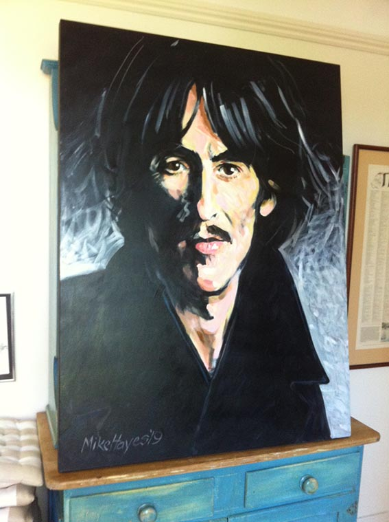 Director Mike Hayes enters 'Jo has one for Mo' painting into (now postponed) Archibald Prize