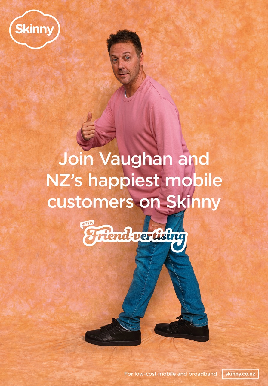 Skinny attempts to reach the whole of New Zealand with ad featuring someone they know in new Friend-vertising campaign via Colenso BBDO