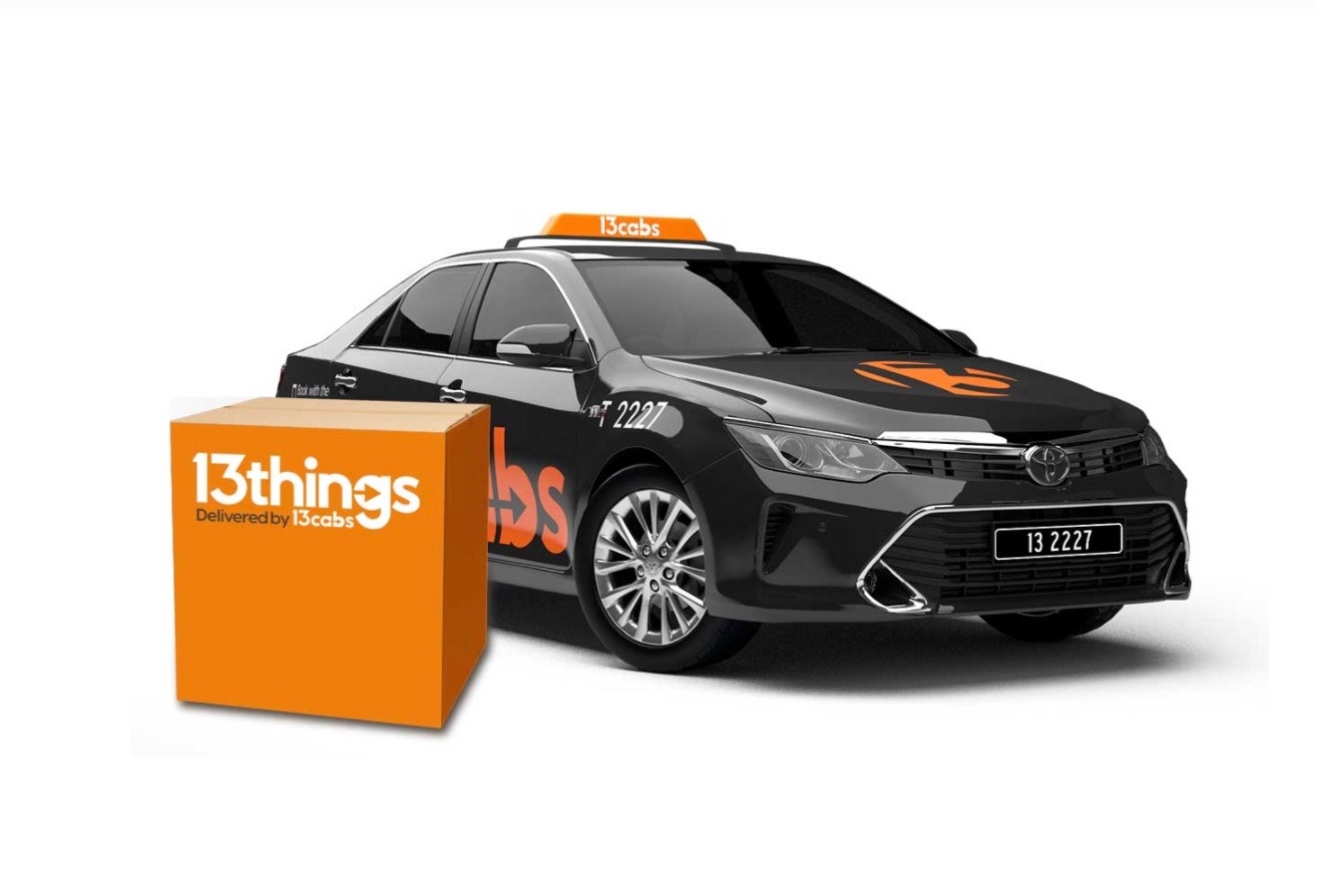 "13cabs launches 13things – a 24/7 ""instant"" delivery service via Thinkerbell, Melbourne"