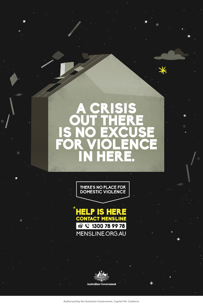 The Australian Government launches campaign via BMF to remind Australians that even in crisis, there's no place for domestic violence