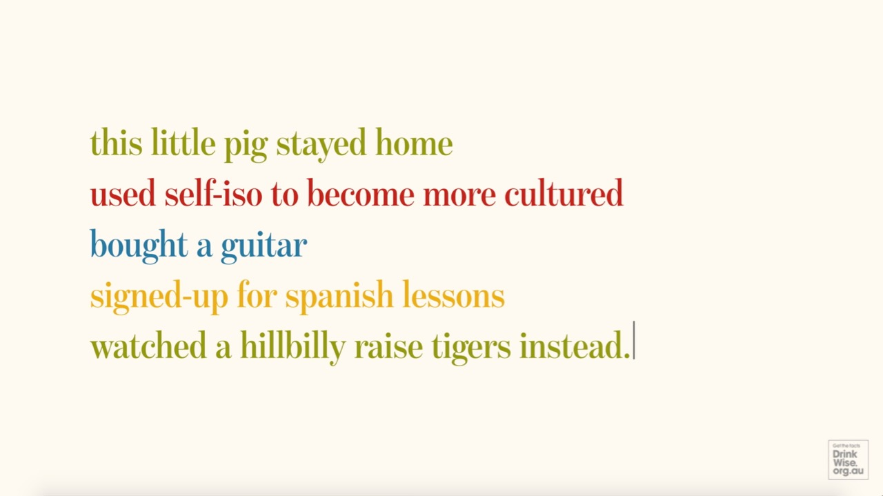 Squealing Pig releases a series of curly quarantine tales in latest campaign for Treasury Wine Estates via Wunderman Thompson
