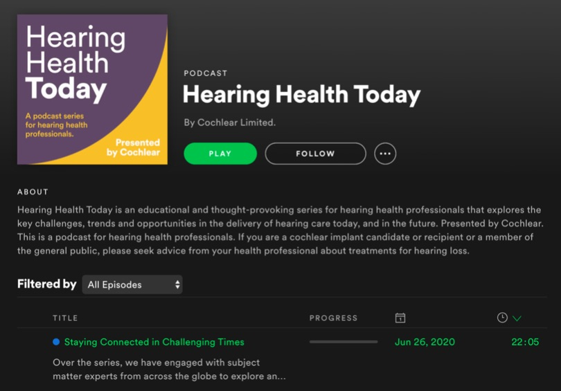 Symmetry Media launches new 'Hearing Health Today' podcast for Cochlear