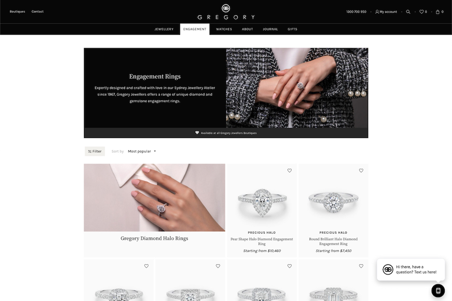 Gregory Jewellers transforms with newly launched online experience via Frank Digital