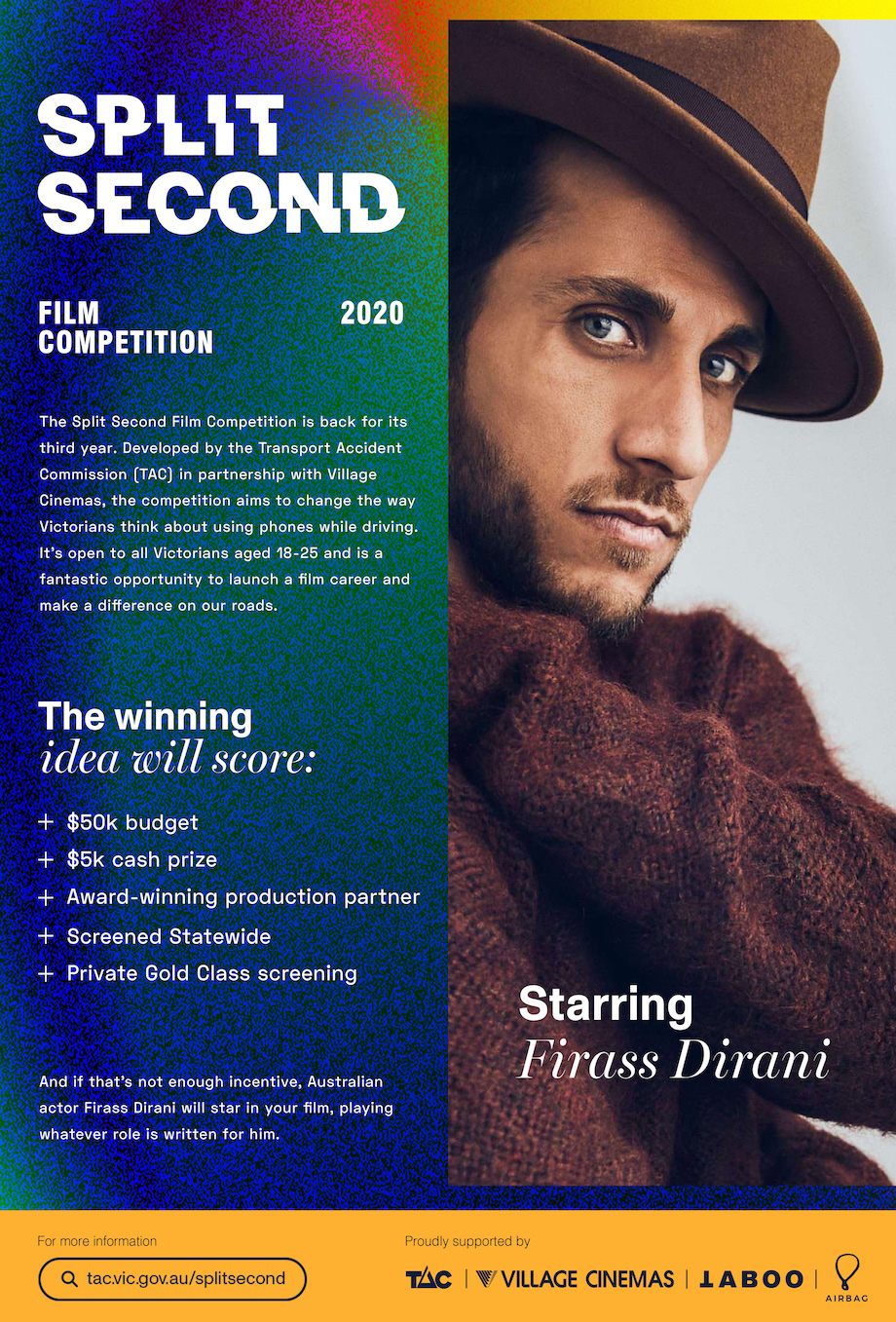 TAC casts a spotlight on road safety for the third annual Split Second film competition via TABOO; deadline closes Wednesday 23 September