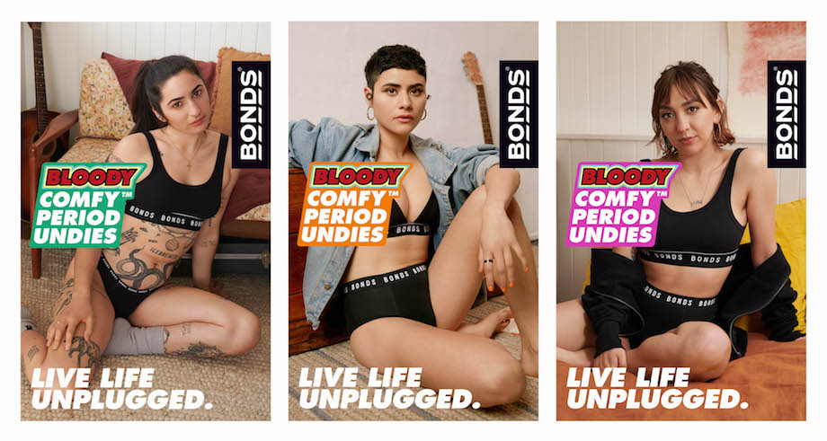 Bonds launches Bloody Comfy Period Undies with new 'Unplugged' album via Leo Burnett