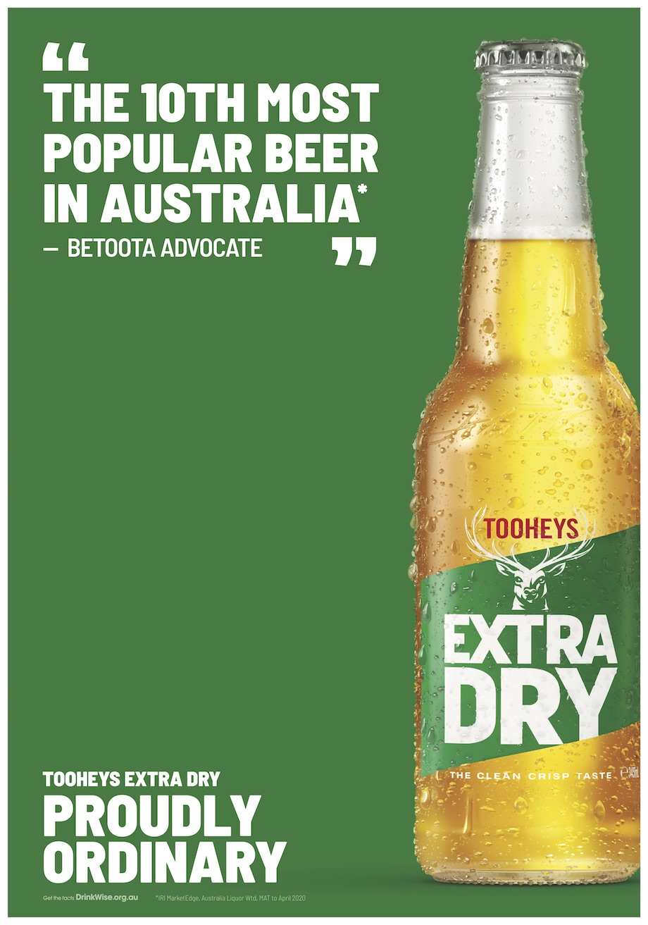 Tooheys Extra Dry launches phase two of 'Proudly Ordinary' campaign via 72andSunny