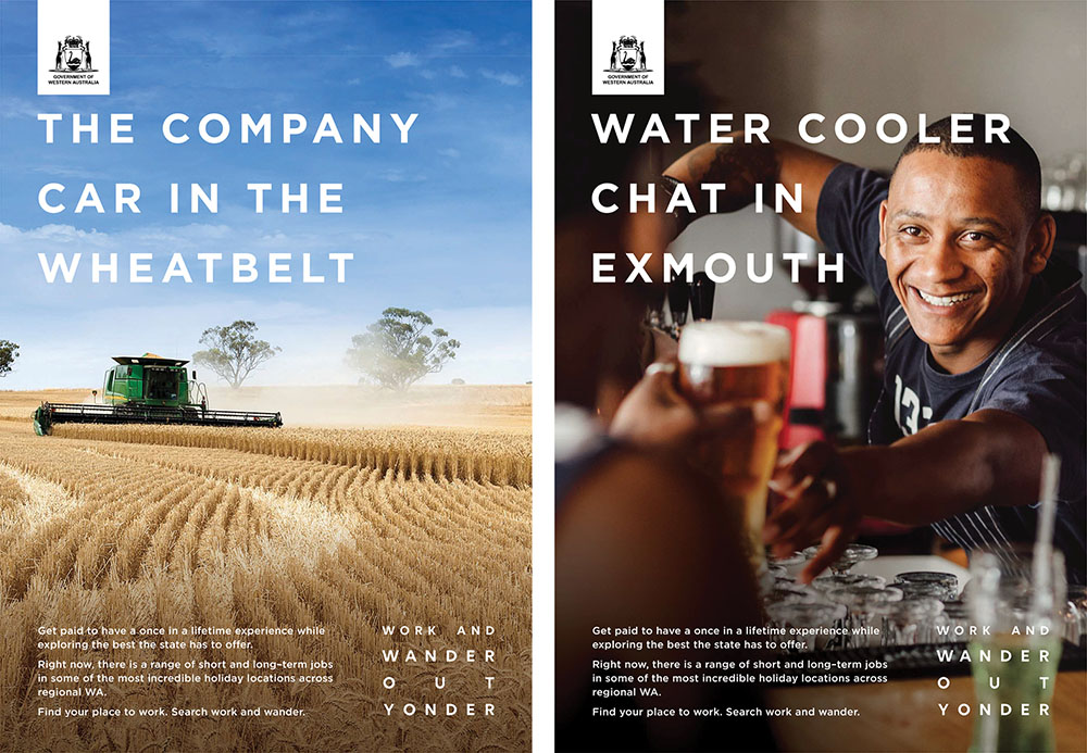 WA Government invites West Aussies to Work out Yonder in campaign via The Brand Agency