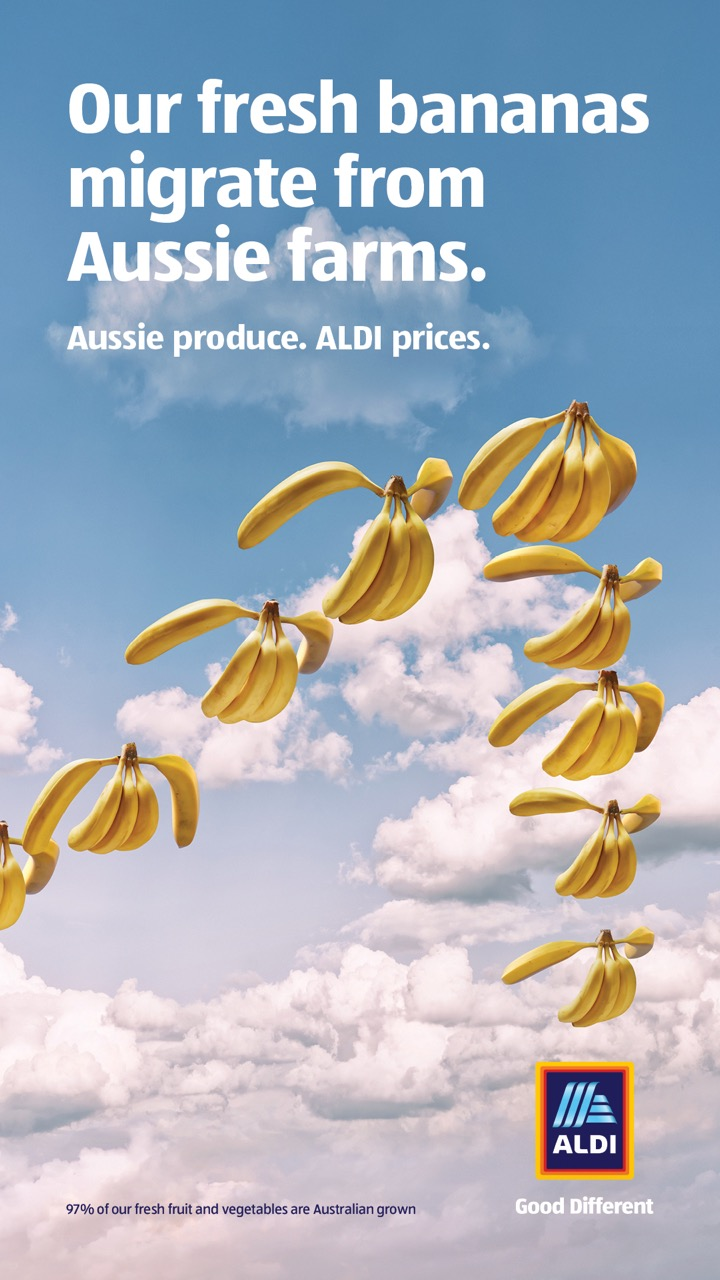 ALDI reveals where its produce really comes from in 'Great Fresh Food Migration' campaign via BMF