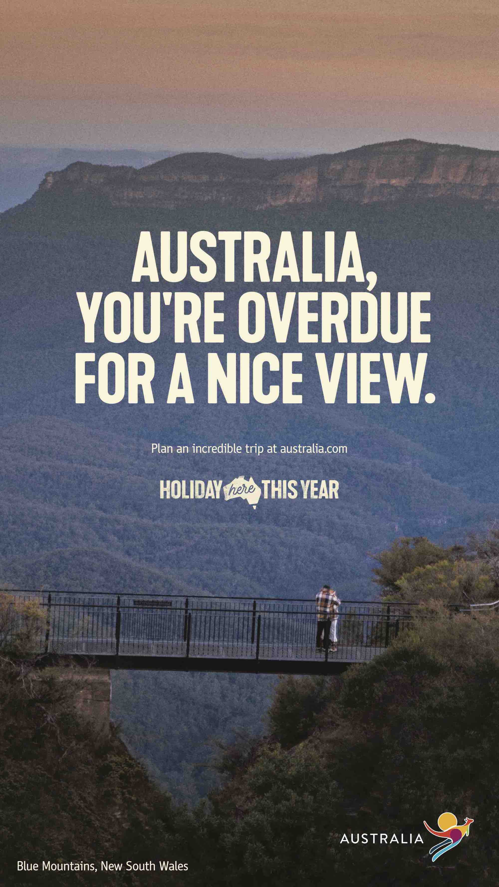 Hamish Blake and Zoe Foster-Blake urge Aussies to book a holiday at home in Tourism Australia's latest campaign via M&C Saatchi, Sydney