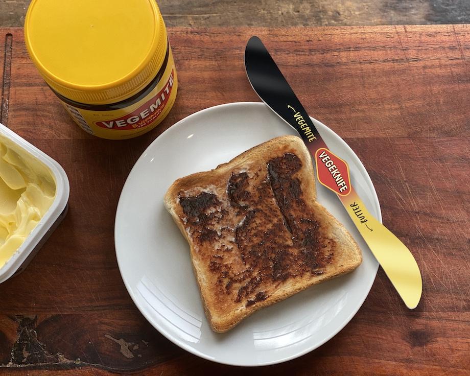 Vegemite combats butter infiltration in Vegemite jars with Vegeknife launch via Thinkerbell