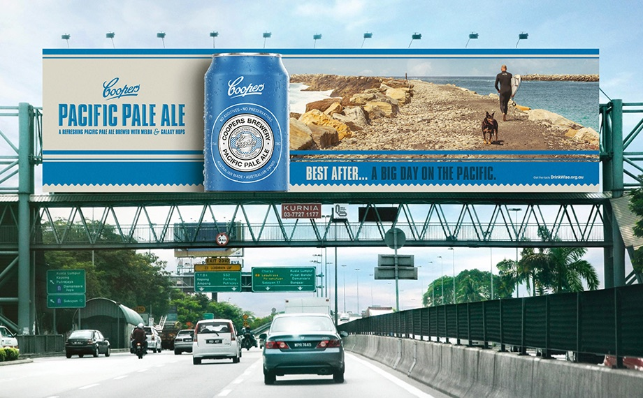 Coopers rebrands its 'Session Ale' to 'Pacific Pale Ale' with packaging and campaign via TABOO