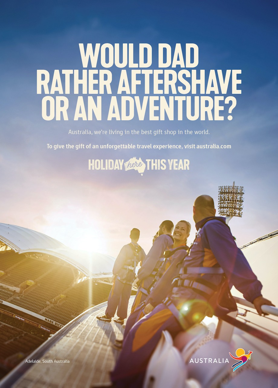 Aussies urged to give the gift of travel in new Tourism Australia campaign via M&C Saatchi
