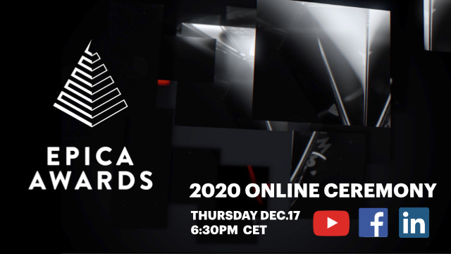 Epica Awards announces live ceremony set for 6:30pm CET, next Thursday, December 17