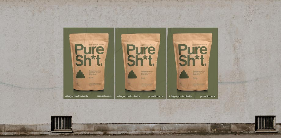 Melbourne agency Gen C launches Pure Sh*t manure with proceeds going to charity