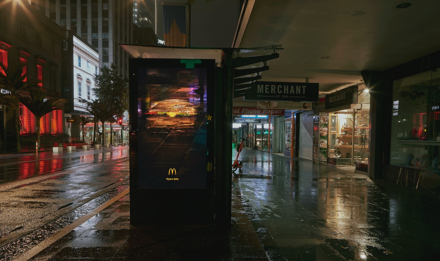 Reflections inspire late night revellers in latest outdoor campaign for Macca's via DDB Aotearoa