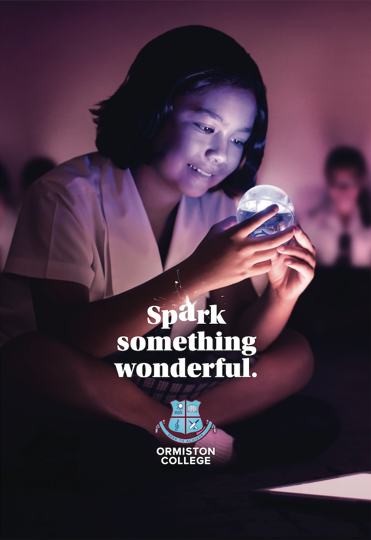 Ormiston College launches new 'Spark something wonderful' brand campaign via Engine Group