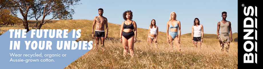 Bonds launches 'The Future is in your Undies' campaign via Special Group Australia in next big step toward a more sustainable future