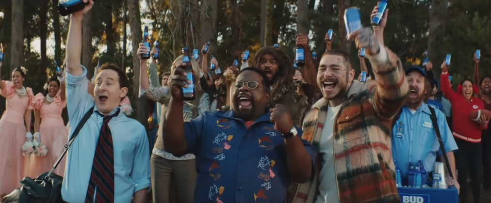 Post Malone, Cedric The Entertainer and more legends save the day in Bud Light's Super Bowl spot via Wieden+Kennedy, New York