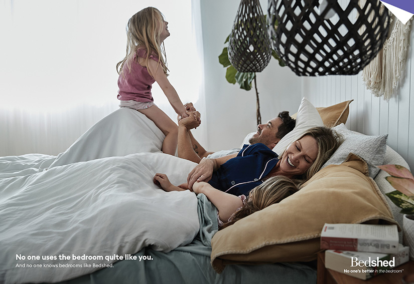 Bedshed captures authentic bedroom moments in new national brand campaign via Rare, Perth