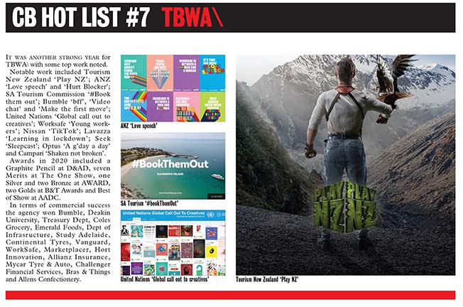 2021 CB HOT LIST #7: TBWA\