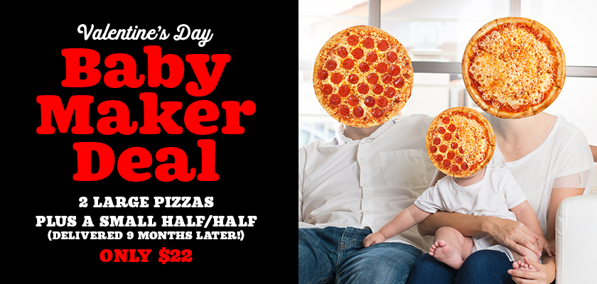 Pizza + procreation become bedfellows in Bubba Pizza's Valentine's Day campaign via By All Means