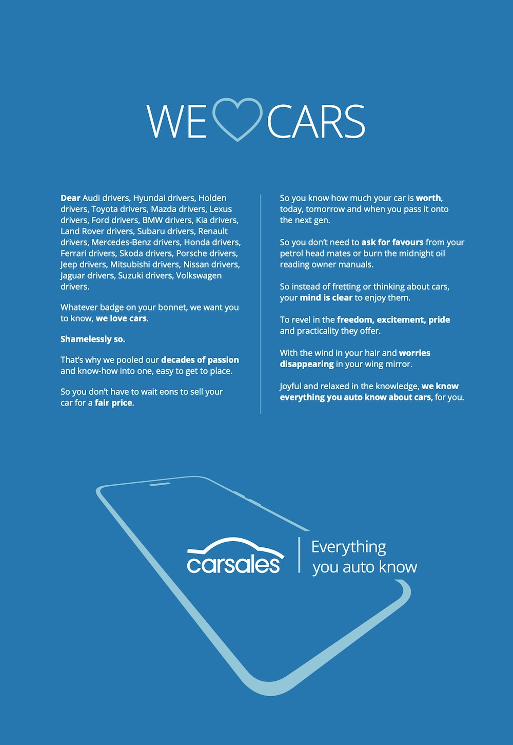 carsales launches new 'Everything You Auto Know' brand platform via BMF