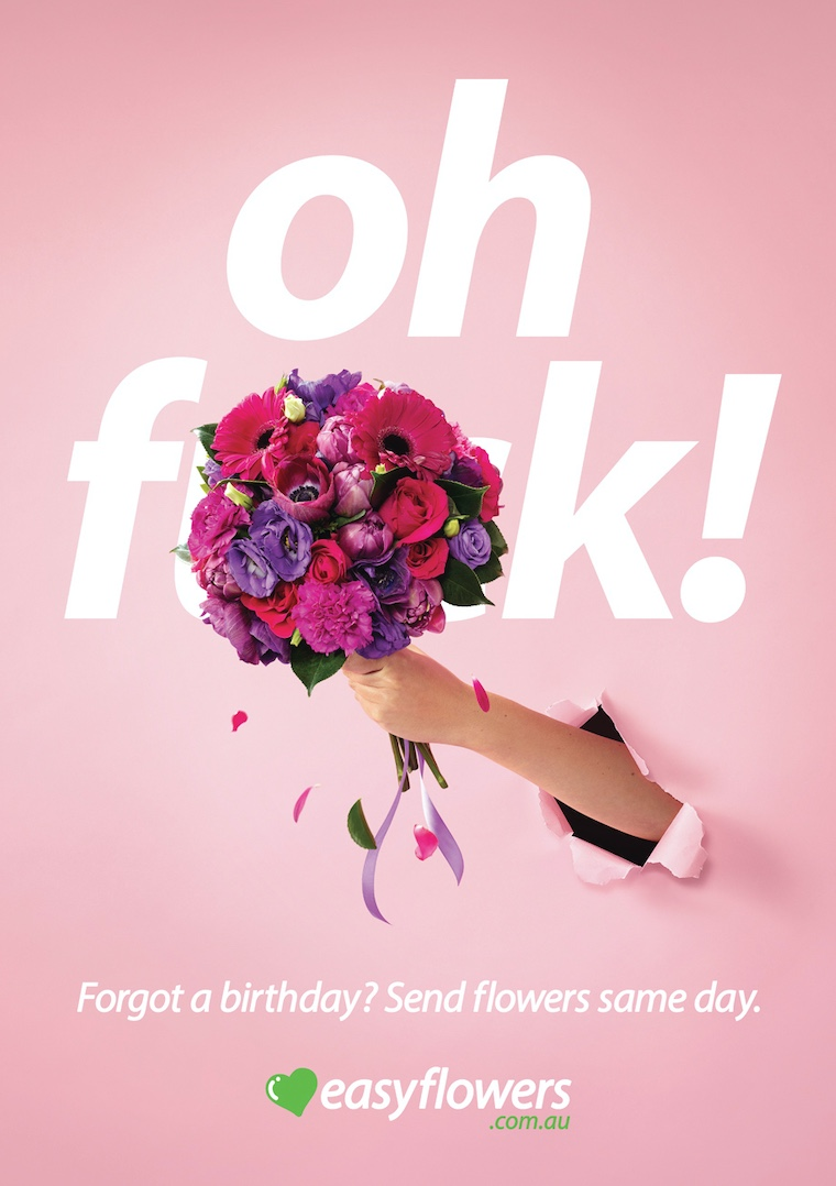 OH F*CK! EASYFLOWERS launches fresh new campaign via The Core Agency