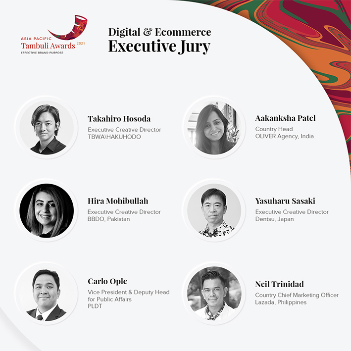 APAC Tambuli Awards 2021 reveals jury members for Humanity and Culture and Digital + Ecommerce categories