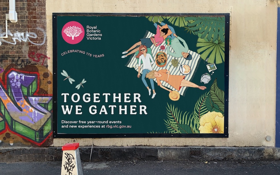 Royal Botanic Gardens Victoria celebrates 175th year with 'Together We Gather' work via Hardhat