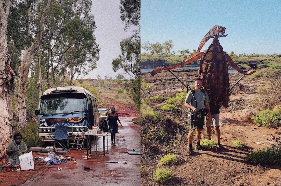 Taxi and Oombarra share Yindjibarndi stories through a new lens