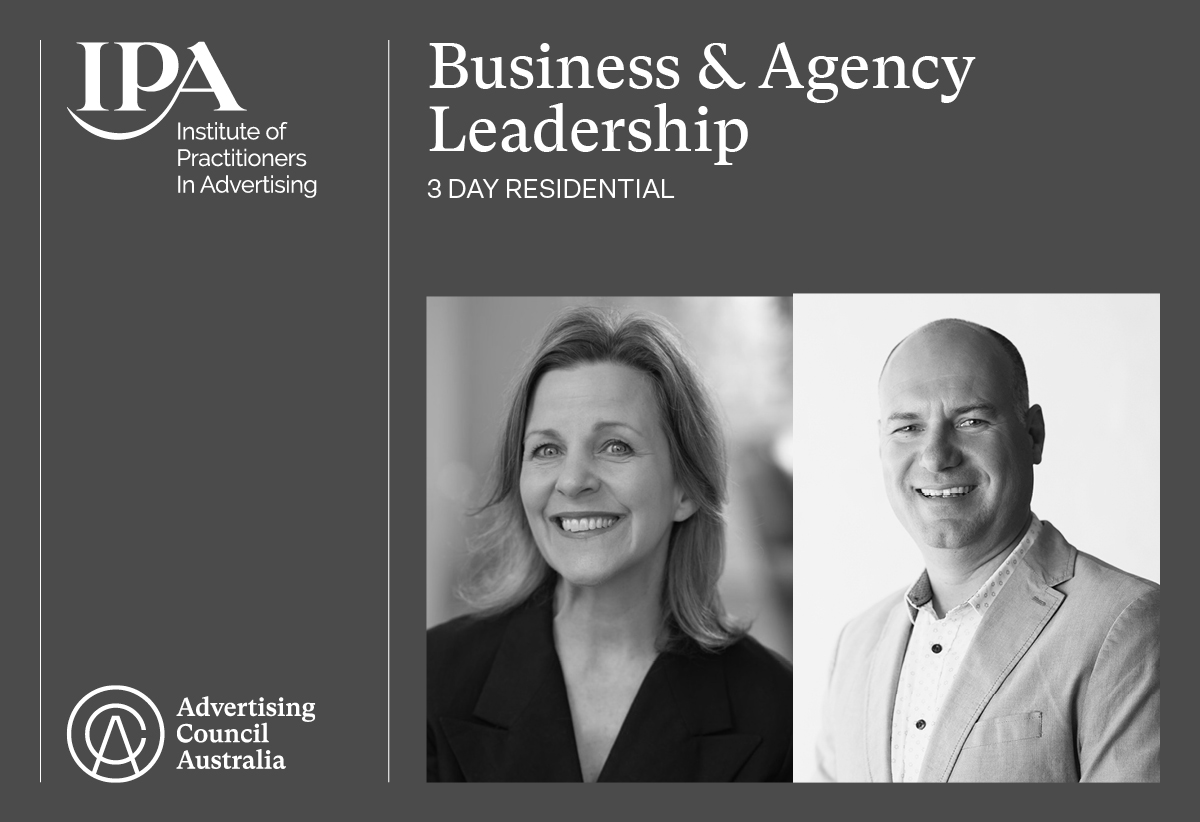 Leo Burnett's Melinda Geertz and Noisy Beast's David Brown to chair 2021 IPA Business & Agency Leadership residential course in Melbourne