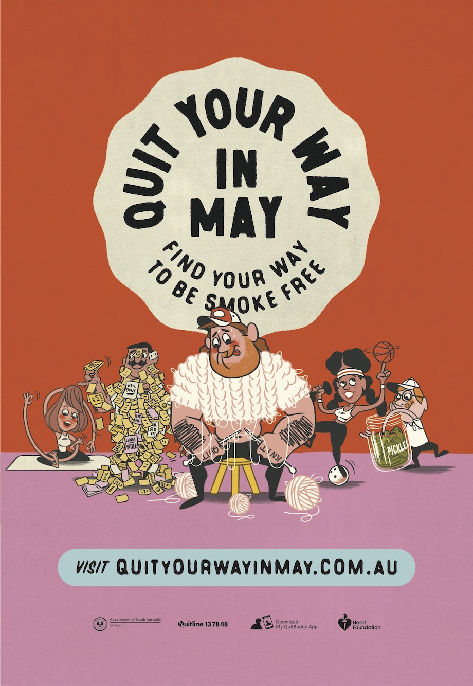 Smokers encouraged to 'Quit Your Way in May' in new animated campaign via Showpony Adelaide