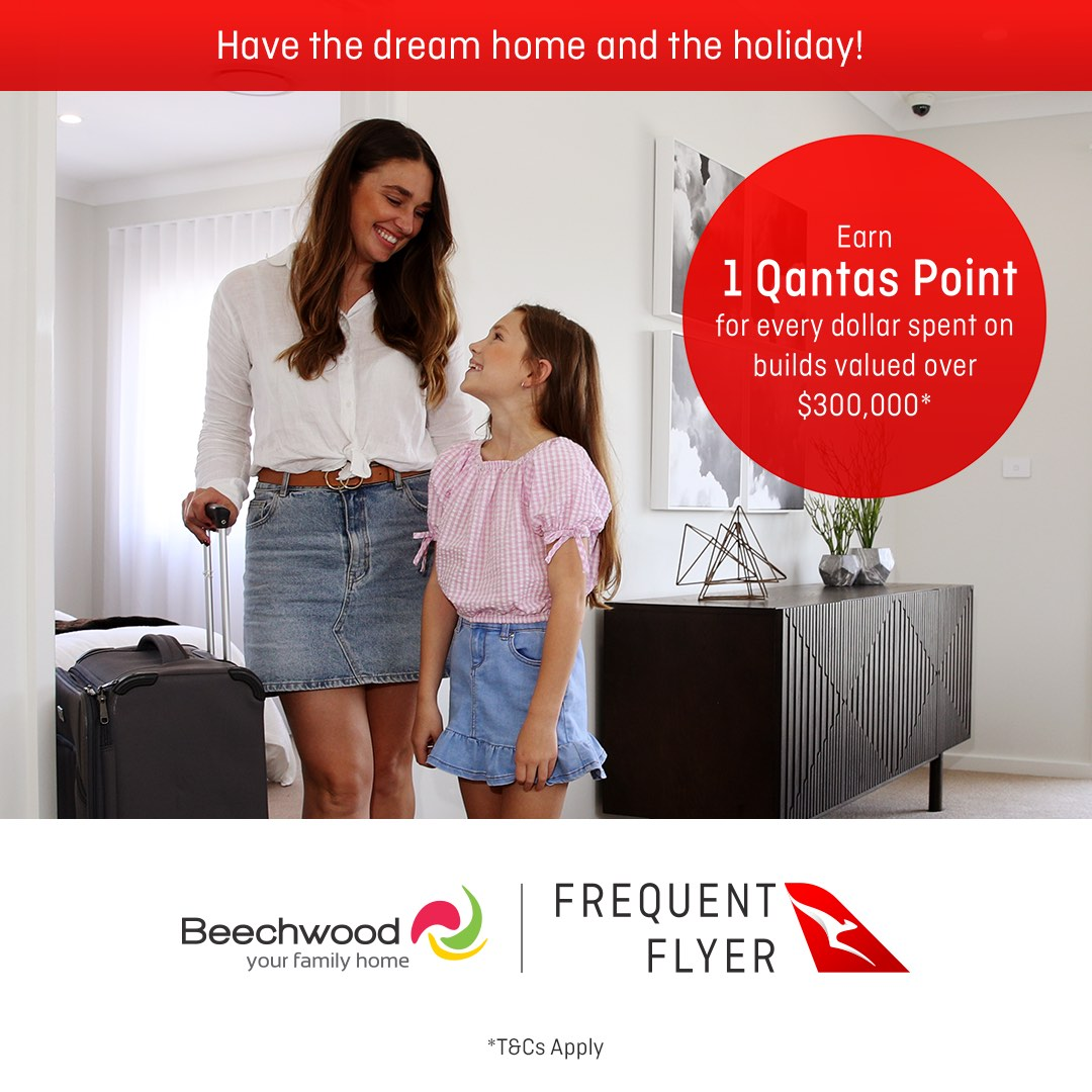 Hello Social flights integrated campaign and TVC for Qantas Frequent Flyer and Beechwood Homes