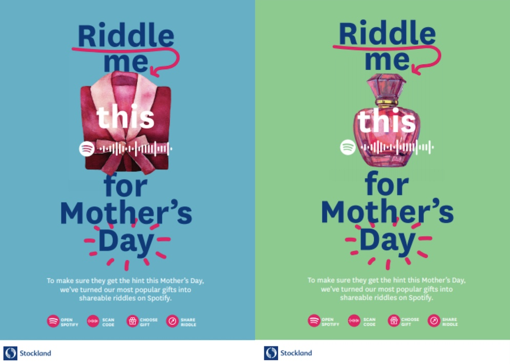 Stockland launches new 'Riddle Me This' Mother's Day campaign via Host/Havas, Sydney