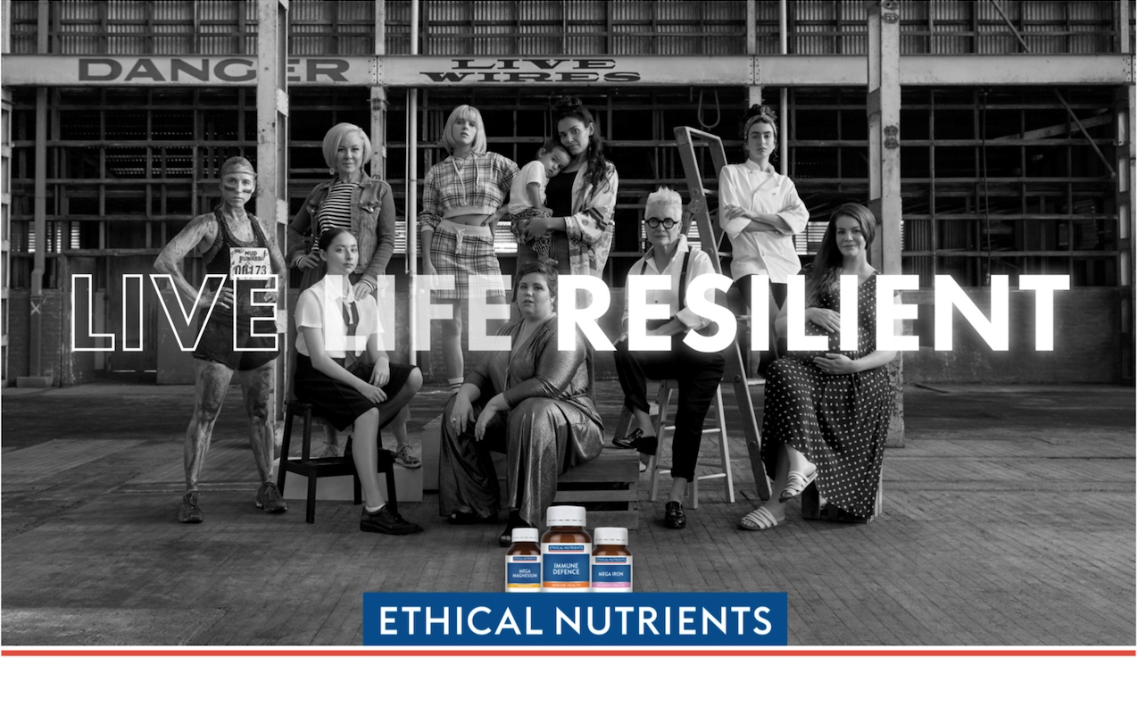 Ethical Nutrients says 'LIVE LIFE RESILIENT' in new campaign via Brainheart and Friends & Allies