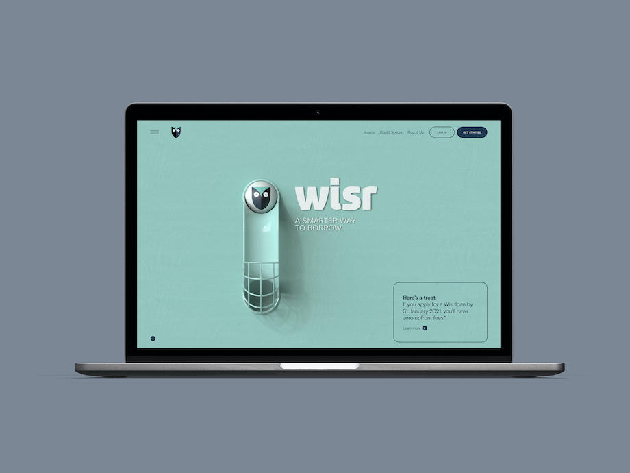 Fintech Wisr launches complete brand redesign and platform via Bear Meets Eagle On Fire + Resn