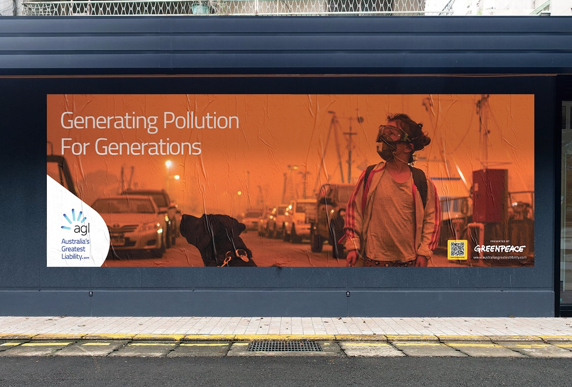 New Greenpeace campaign takes aim at AGL, via Monster Children Creative