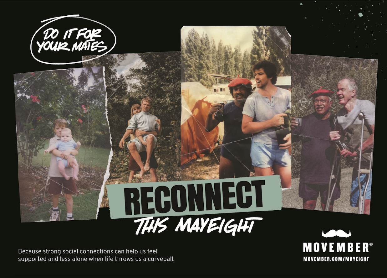 Movember's MAYEIGHT campaign via Gen C gives blokes the tools to reconnect