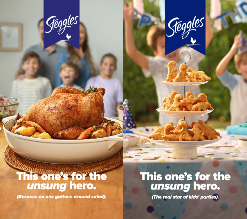 Steggles celebrates the 'unsung hero' of Aussie families in new campaign via M&C Saatchi Sydney