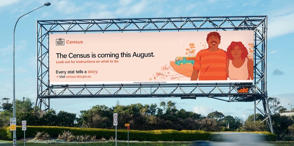 Australian Bureau of Statistics says 'Every stat tells a story' in Census campaign via BMF + UM