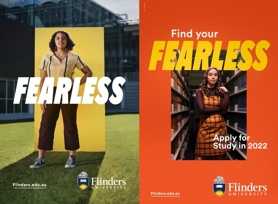 Flinders University launches 'fearless' new brand campaign via Showpony