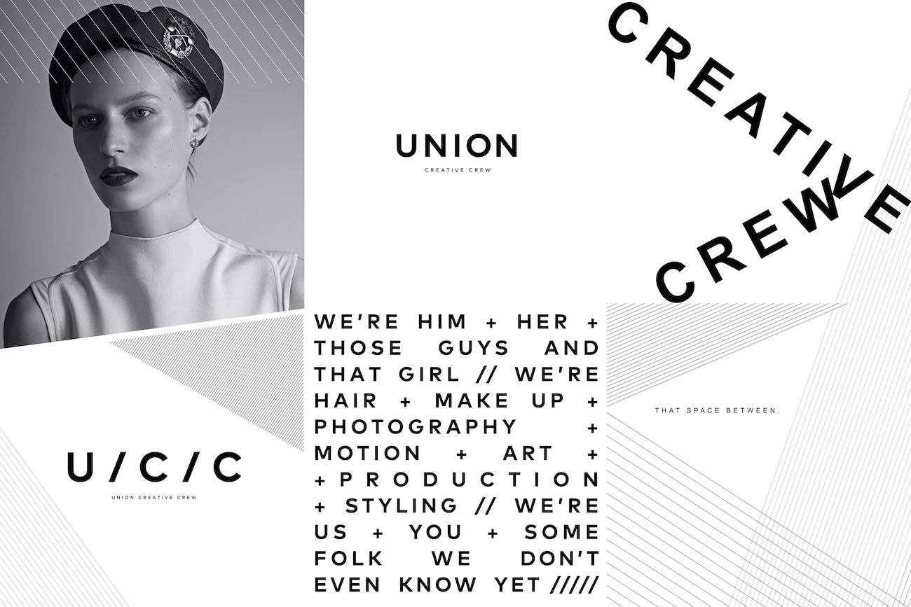 """Union Management's branding refresh positions itself as the new, young """"Creative Crew"""" working in all areas of creative content"""