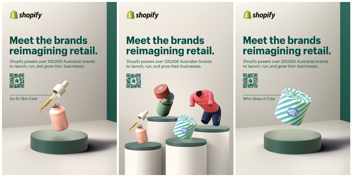 Shopify launches new 'Reimagine Retail' OOH campaign via Chello and iPROSPECT